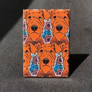 Airedale Terrier Psychedelic Magnet, Handmade